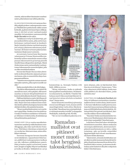 Some of the article content in Finnish